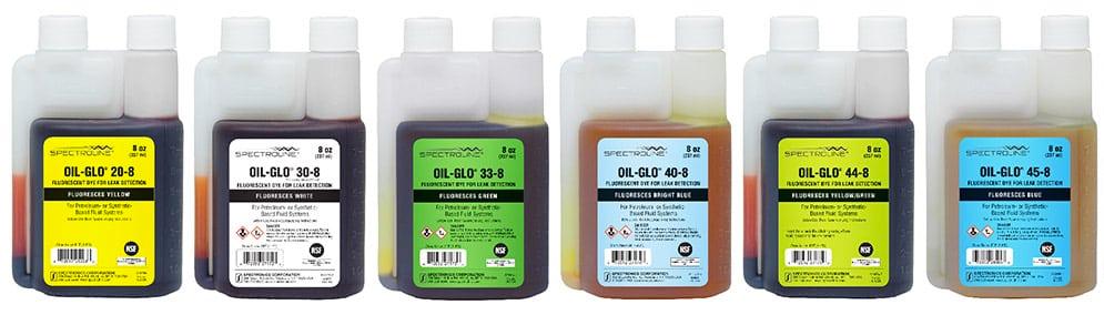 OIL-GLO® Industrial Leak Detection Dyes.
