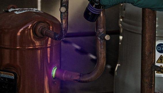HVAC/R fluoreszierende Lecksuche