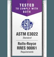 Luces UV de acuerdo con Rolls-Royce RRES 90061 y ASTM E3022